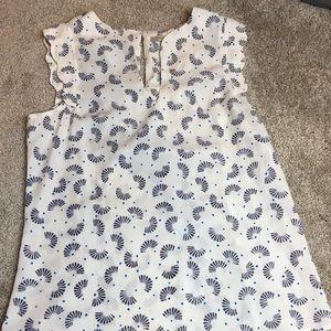 41 hawthorn printed blouse EUC